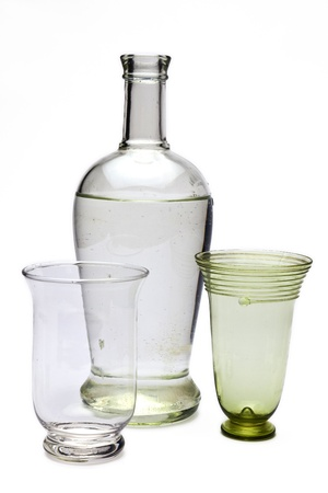 bottle with black and white pattern photo