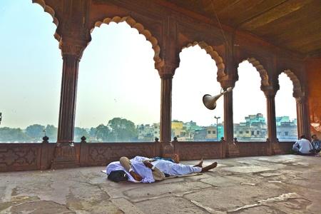 jama mashid: Jama Masjid Mosque, old Delhi, India.