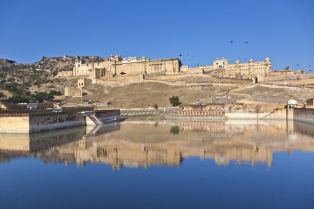 famous Amber Fort in Jaipur, India. Stock Photo