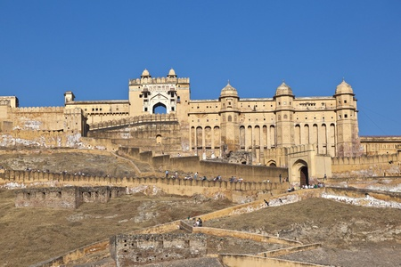 famous Amber Fort in Jaipur, India. photo