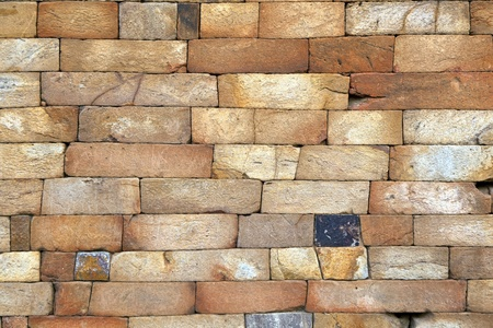 brick mason: seamless bricks of an historic building QTAB Minar in Delhi