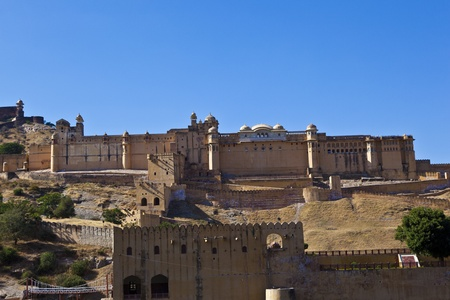 amber fort: famous Amber Fort in Jaipur Stock Photo