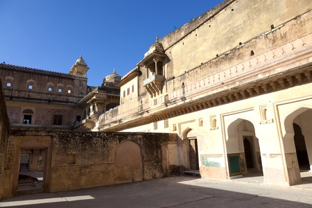 jagmandir: inside the famous Amber Fort in Jaipur, India. Stock Photo