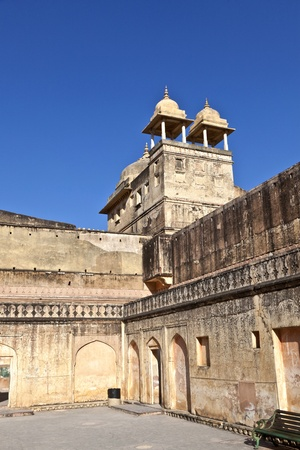 amber fort: inside the famous Amber Fort in Jaipur, India. Stock Photo