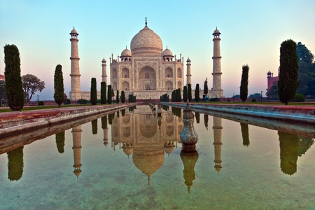 temple tower: Taj Mahal in India Stock Photo