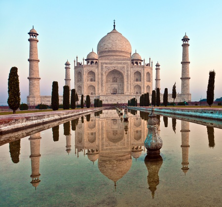 monument in india: Taj Mahal in India Stock Photo