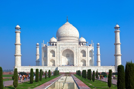 mahal: Taj Mahal in India Stock Photo