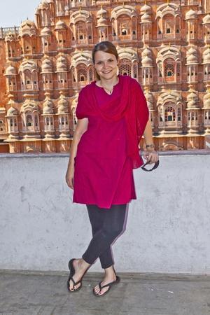 rajput: Hawa Mahal, the Palace of Winds, Jaipur, Rajasthan, India.