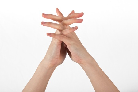 gyan: A womans hand is shown in yoga gesture