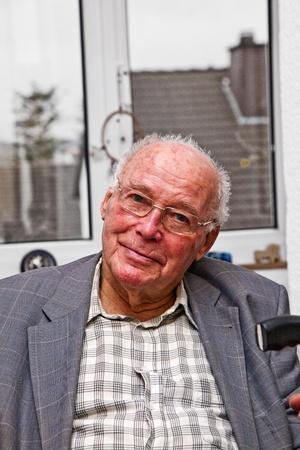 smiling attractive elderly man photo