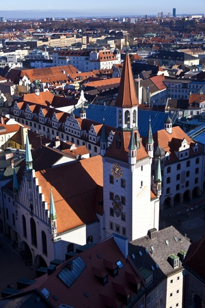 aerial of Munich in beautiful weather photo