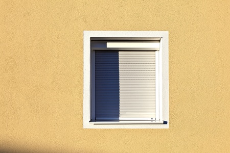 detail of house facade with window photo