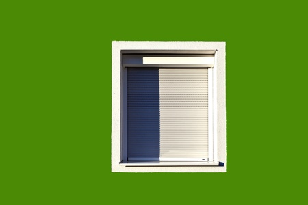 detail of house facade with window Stock Photo - 11758831