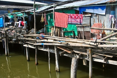 koh samet: fishermans hut in Koh Samet on the water Stock Photo