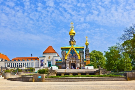 russian orthodox: Russian orthodox church Darmstadt Germany Stock Photo
