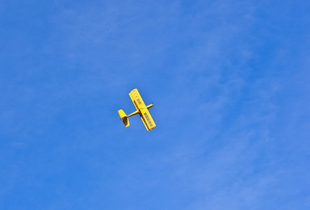 model airplane in the sky photo