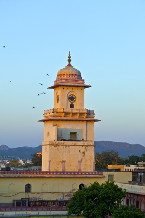 famous clocktower in Jaipur in sunset photo