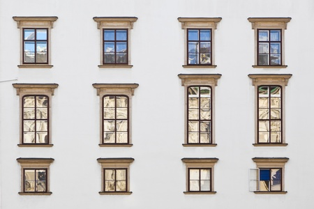 old windows at Hofburg facade in vienna Stock Photo - 12206130