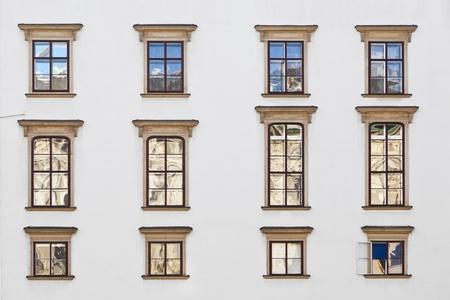 old windows at Hofburg facade in vienna Stock Photo - 12206130