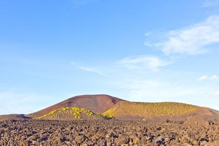 volcano in timanfaya national park in Lanzarote, Spain photo