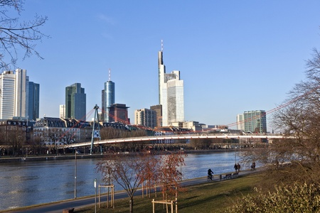 cityscape of Frankfurt am Main, Germany. photo