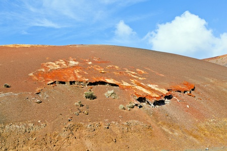 Volcanic landscape taken in Timanfaya National Park, Lanzarote, Canary Islands, Spain photo