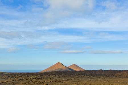 volcano in timanfaya national park in Lanzarote, Spain Stock Photo - 12595542