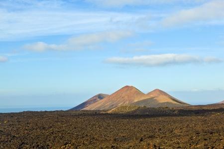 timanfaya: volc�n en el Parque Nacional de Timanfaya en Lanzarote, Espa�a