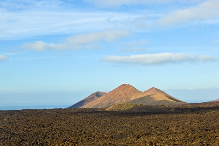 volcano in timanfaya national park in Lanzarote, Spain Stock Photo - 12595543