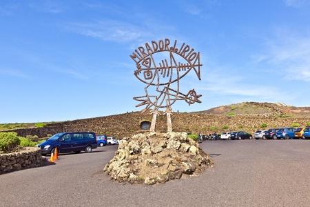 mirador: Mirador del Rio on Canary Island Lanzarote, Spain