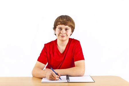 cute pupil learning for school Stock Photo - 12648546