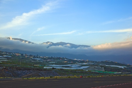 view from airport La Palma to the hills Stock Photo - 12598362
