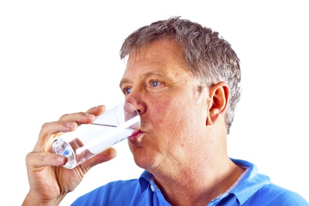 bodies of water: man drinking water out of a glass