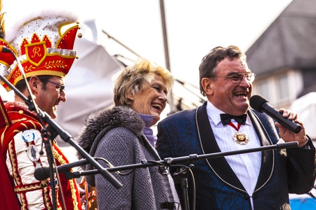 FRANKFURT, GERMANY - MARCH 5: The Carnival  Parade moves through the city on March 5, 2011 in Frankfurt, Germany. They  conquest the town hall and get the key for one day from the mayor. Stock Photo - 12591957