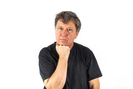rodin: portrait of man in sorrow Stock Photo