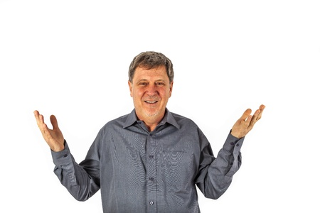 take it easy: leisure attractive man looking friendly and positive Stock Photo