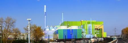 power plant of an Industry Park in beautiful landscape near Frankfurt