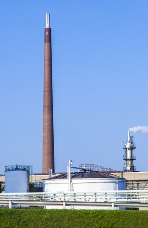 buildings of an Industry Park in beautiful landscape near Frankfurt