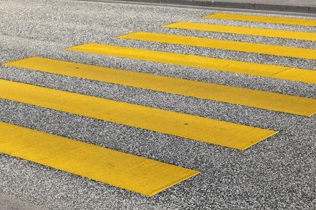 pedestrian crossing in yellow Stock Photo - 12983841