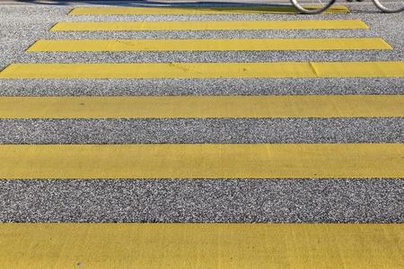 pedestrian crossing in yellow photo