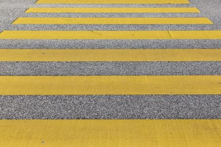 pedestrian crossing in yellow Stock Photo - 12983842