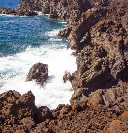a view of Los Hervideros del Agua in Lanzarote, Canary Islands, Spain Stock Photo - 13369883