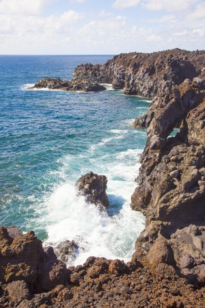 a view of Los Hervideros del Agua in Lanzarote, Canary Islands, Spain Stock Photo - 13369967
