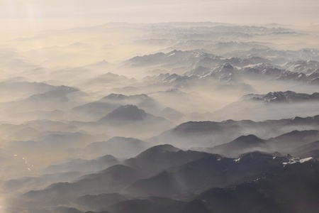 peak: view to mountains of the alps