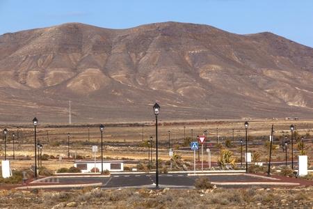 new roads for the development area in Lanzarote photo