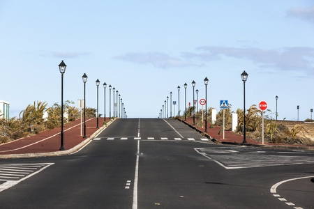 new roads for the development area in Lanzarote Stock Photo - 13510786