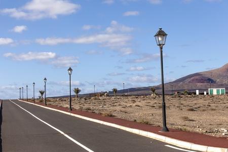 new roads for the development area in Lanzarote Stock Photo - 13510832