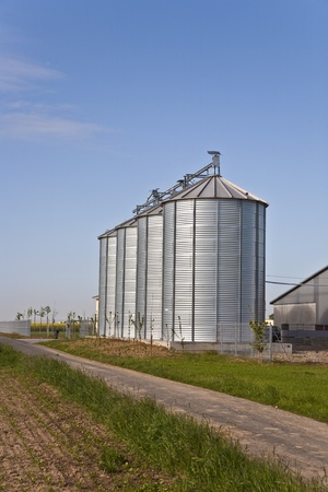 silo with acre in landscape photo