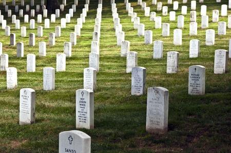 Gravestones At The Arlington National Cemetery Near Washington Stock
