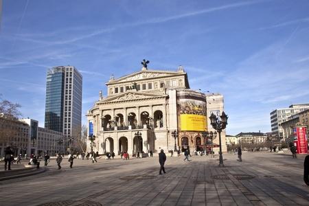 alte: famous Opera house in Frankfurt, the Alte Oper, Germany